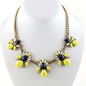 J. Crew Statement Necklace Yellow Pop Color